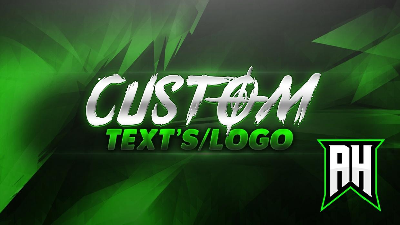 Professional Custom 2D Text/Logo's