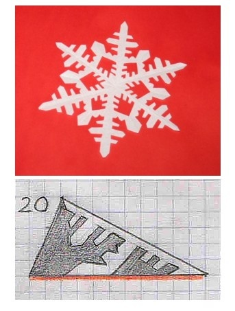 Modelli per fiocchi di neve di carta - snowflake patterns