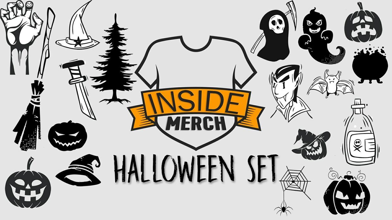 Halloween Set of 50 Design Elements