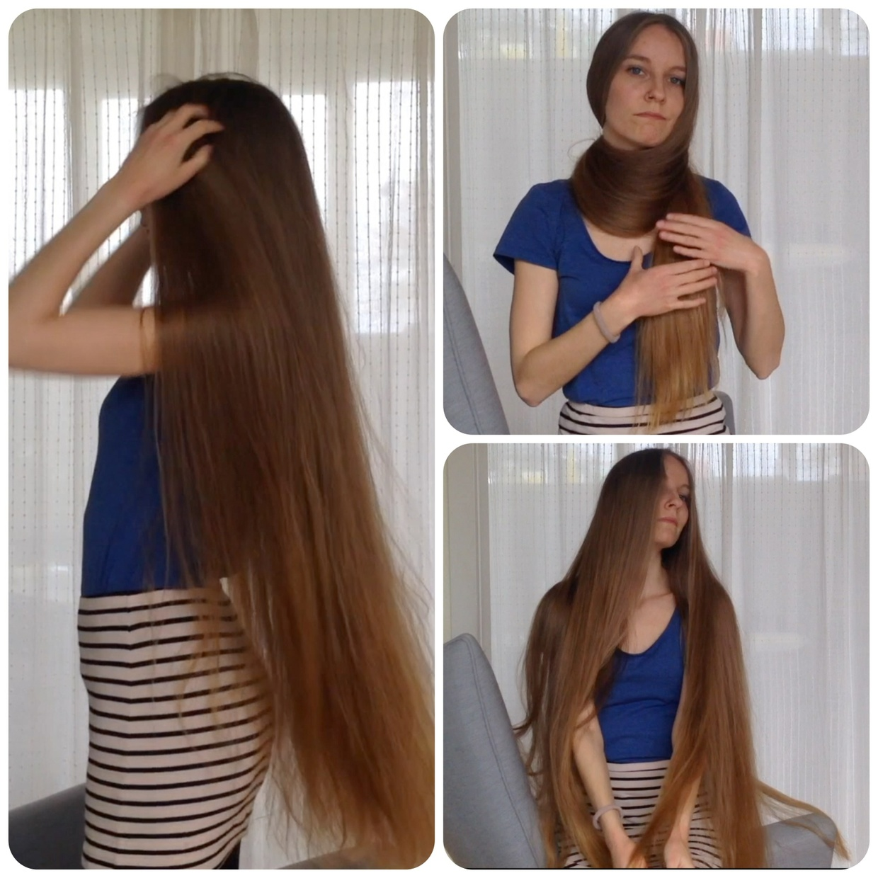 VIDEO - Top quality hair 4 - Long haired singer