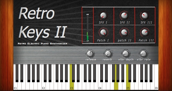 Retro Keys 2 | AU/VST 32/64bit plugin for Mac OSX