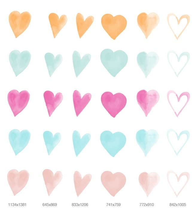 large hearts clipart