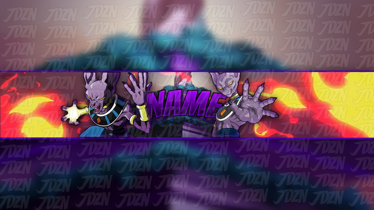 *NEW* Beerus YouTube Banner Template [Dragon Ball Super 2018] - JDZN