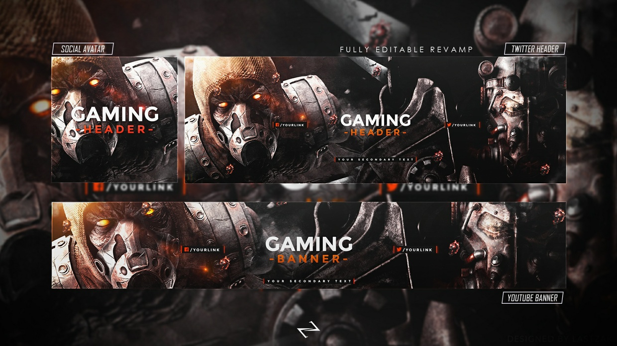FREE GFX: FREE Gaming Revamp│Rebrand 2018 [PSD Template] by LastZAK