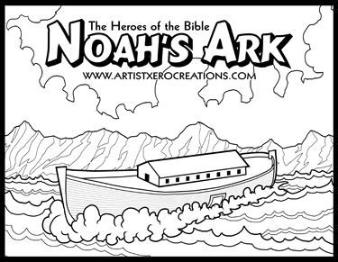 78 Noah Coloring Pages Activities