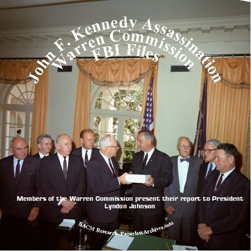 John F Kennedy Assassination Warren Commission FBI Files