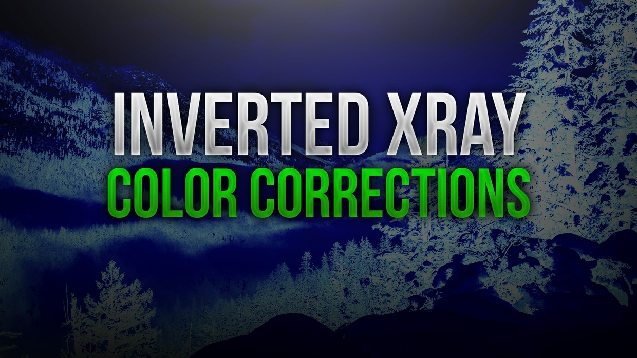 Inverted Xray Photoshop Color Correction Pack