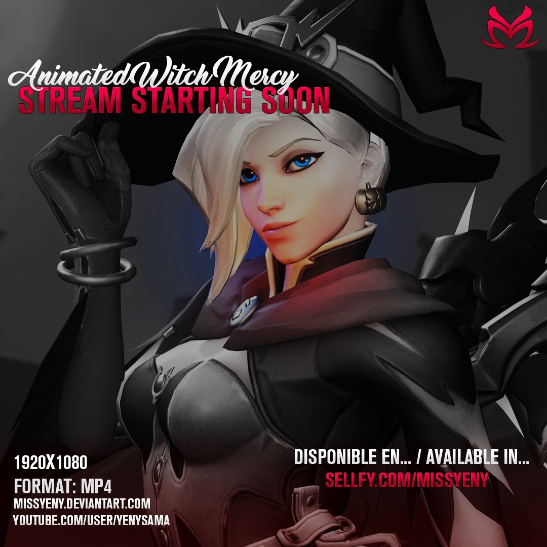 Animated Screen | Witch Mercy Stream Starting Soon