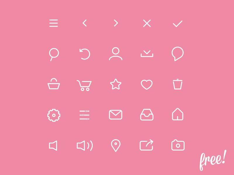 FREE VECTOR BASIC NAVICATION ICONS