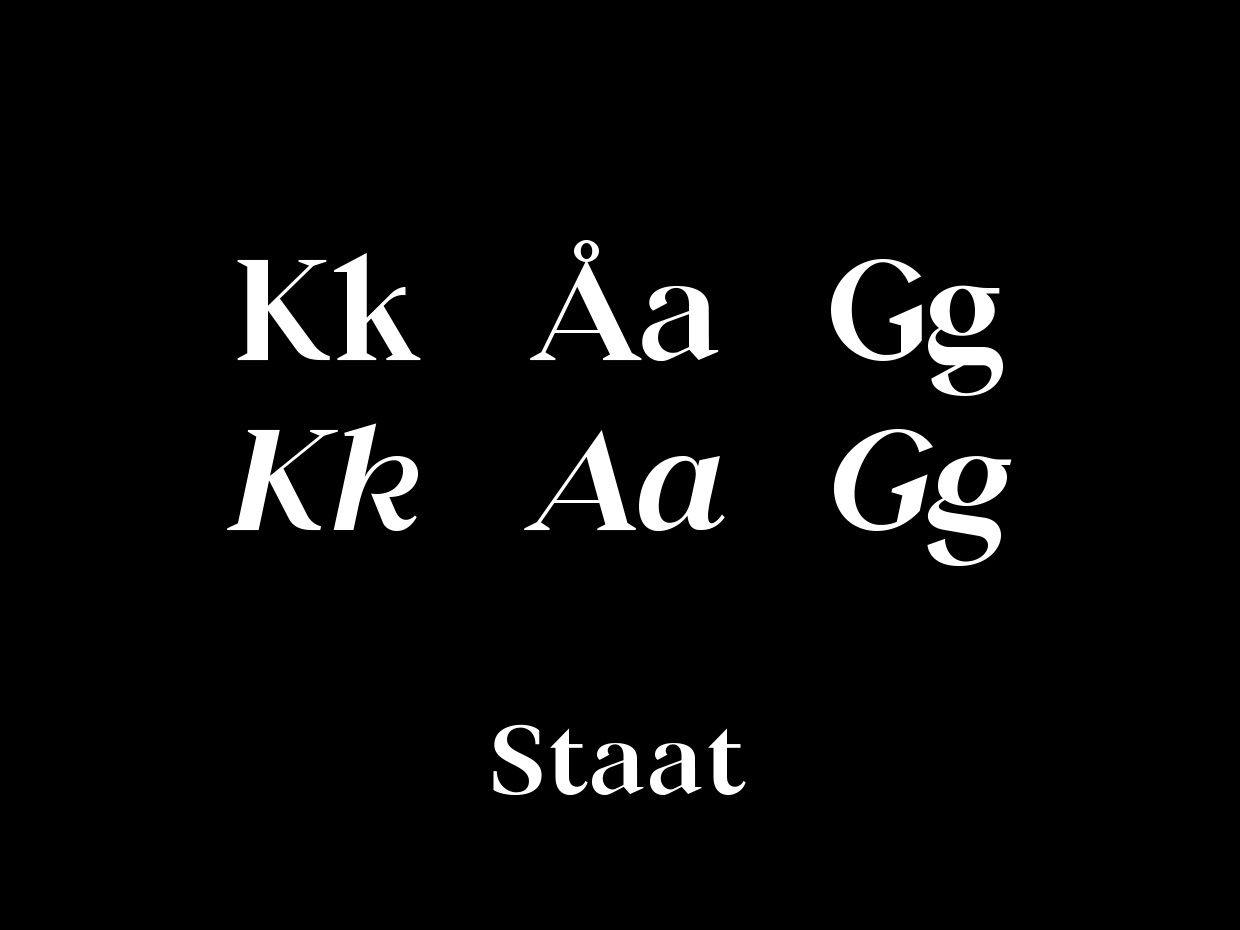 Staat Font - Personal