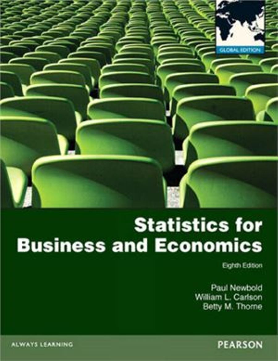 Statistics for Business and Economics 8th edition ( Global Edition )  ( PDF, Instant download )
