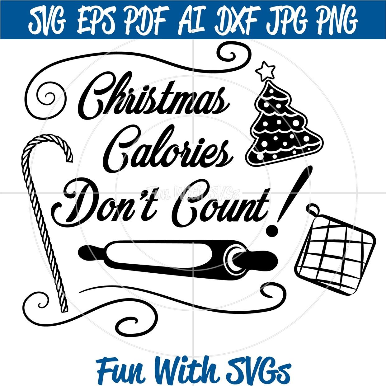 Christmas Calories Don't Count, DIY Potholders, Aprons, Kitchen Towels