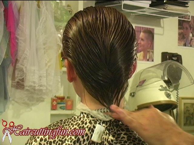 Karissah's Hair Play - Slicked Hair and Dryer Time - VOD Digital Video on Demand