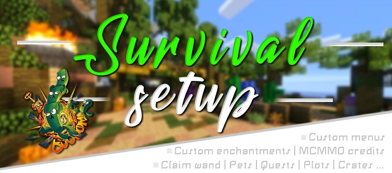 ① SURVIVAL SETUP | | ■ Custom menus ■ | Pets | Quests | Protection | Crates | ..
