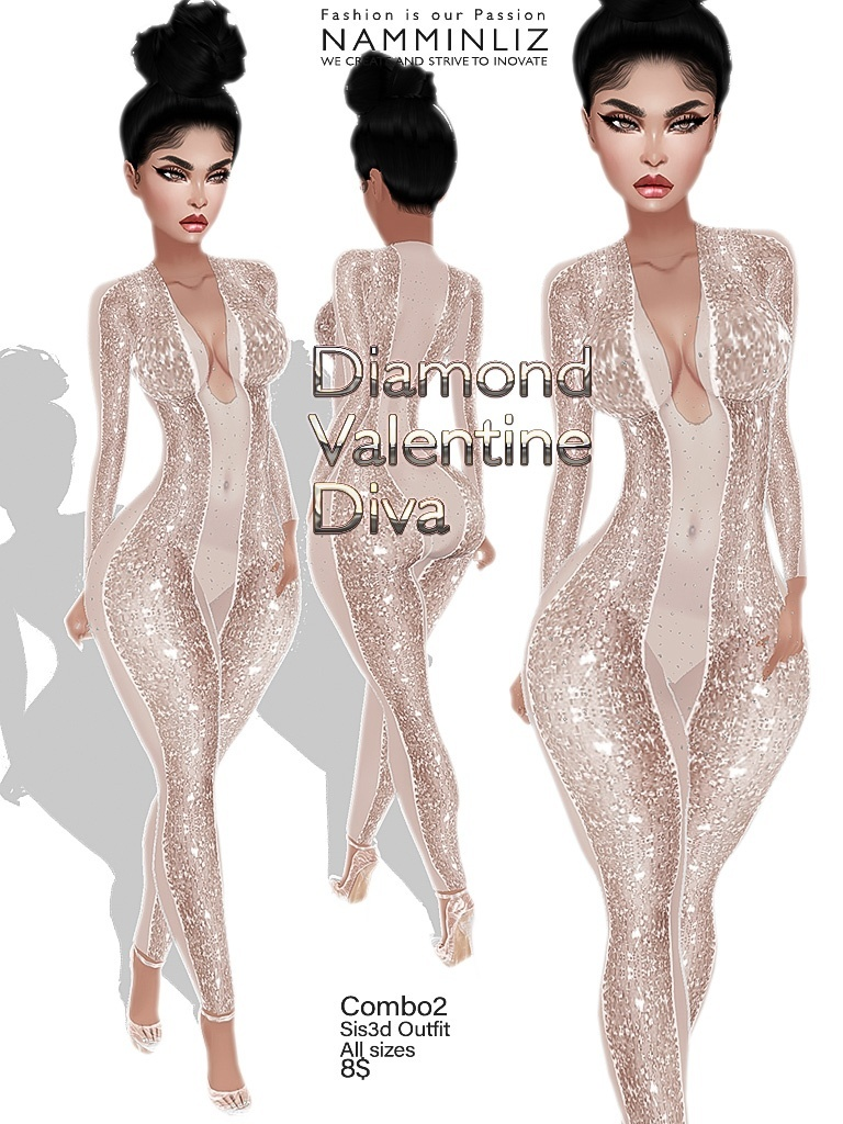 Diamond Valentine Diva combo2 outfit Sis3d JPG Texture