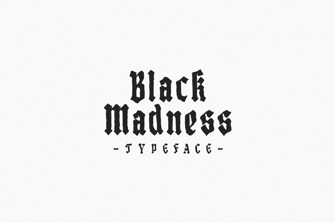 Black Madness - Font