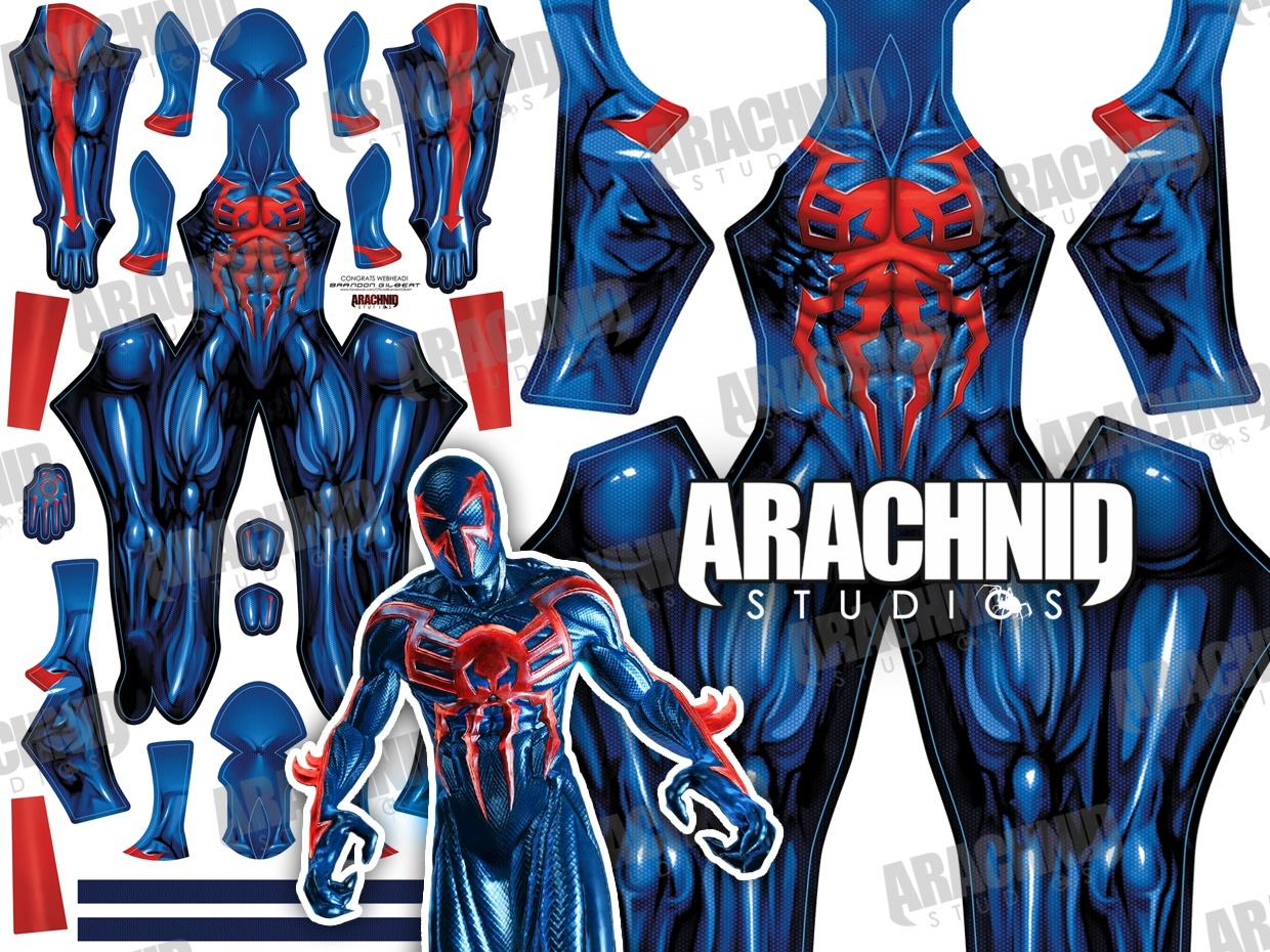 Spider-Man 2099 Dye-sub pattern