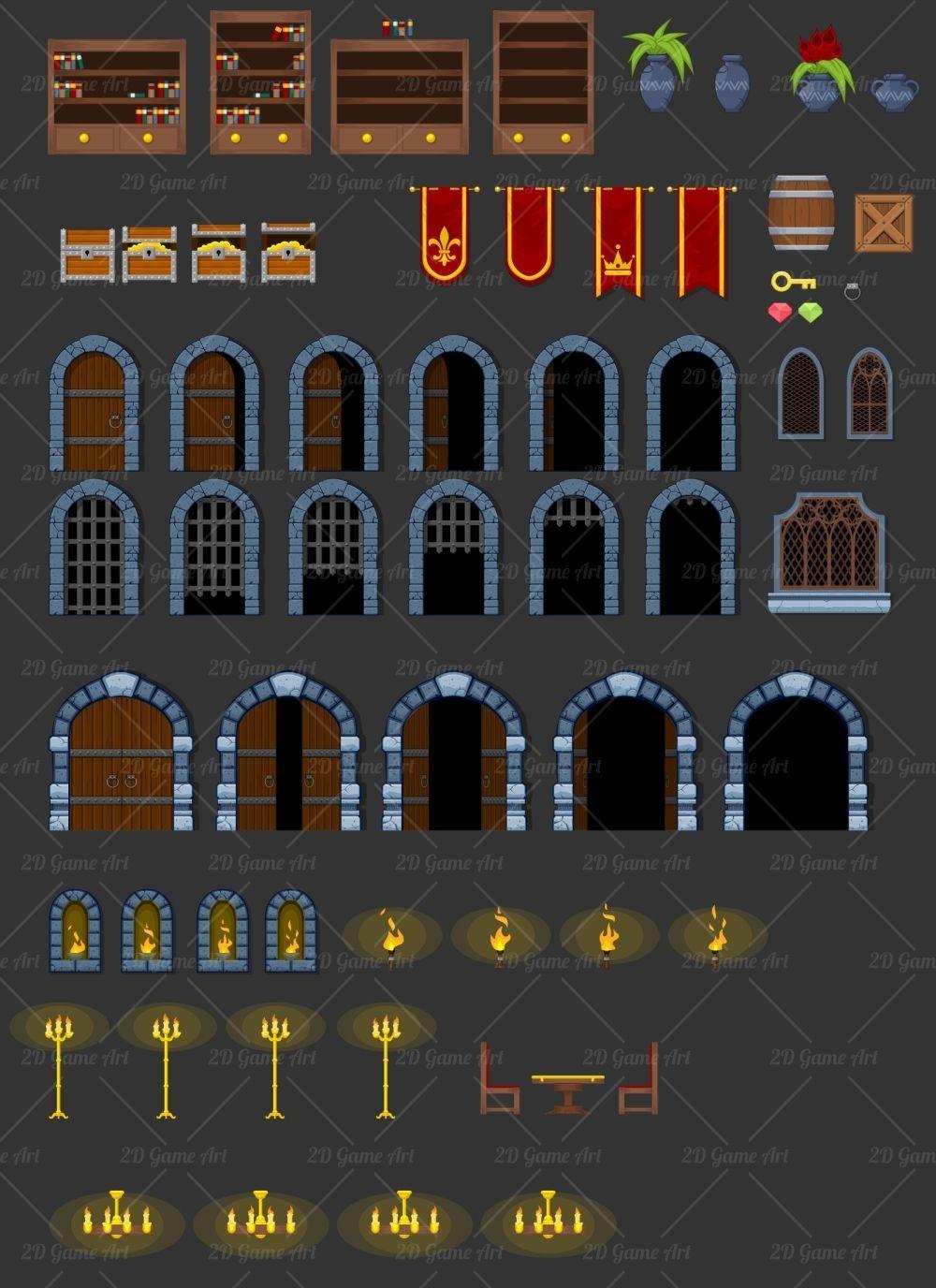 The Castle Game Tileset Gameart2d Com Sellfy Com