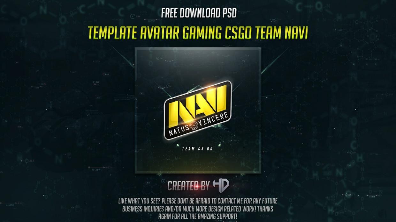 Template avatar/profile Gaming Csgo Team Navi Free Download