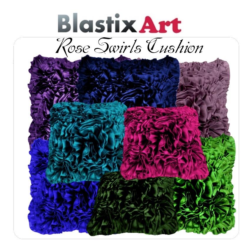Rose Swirl Cushion