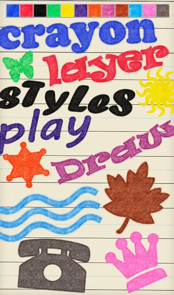 Crayon Layer Styles