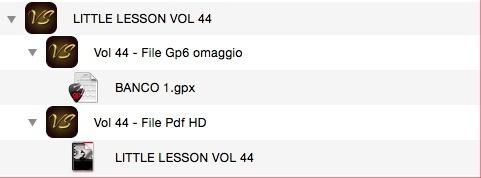LITTLE LESSON VOL 44 - Format Pdf (in omaggio file Gp6)