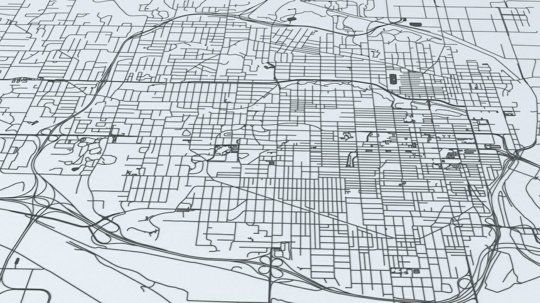 Kansas City Road Network Architectural 3D Model
