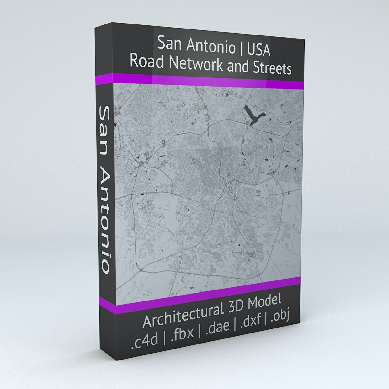 San Antonio Road Network Architectural 3D Model
