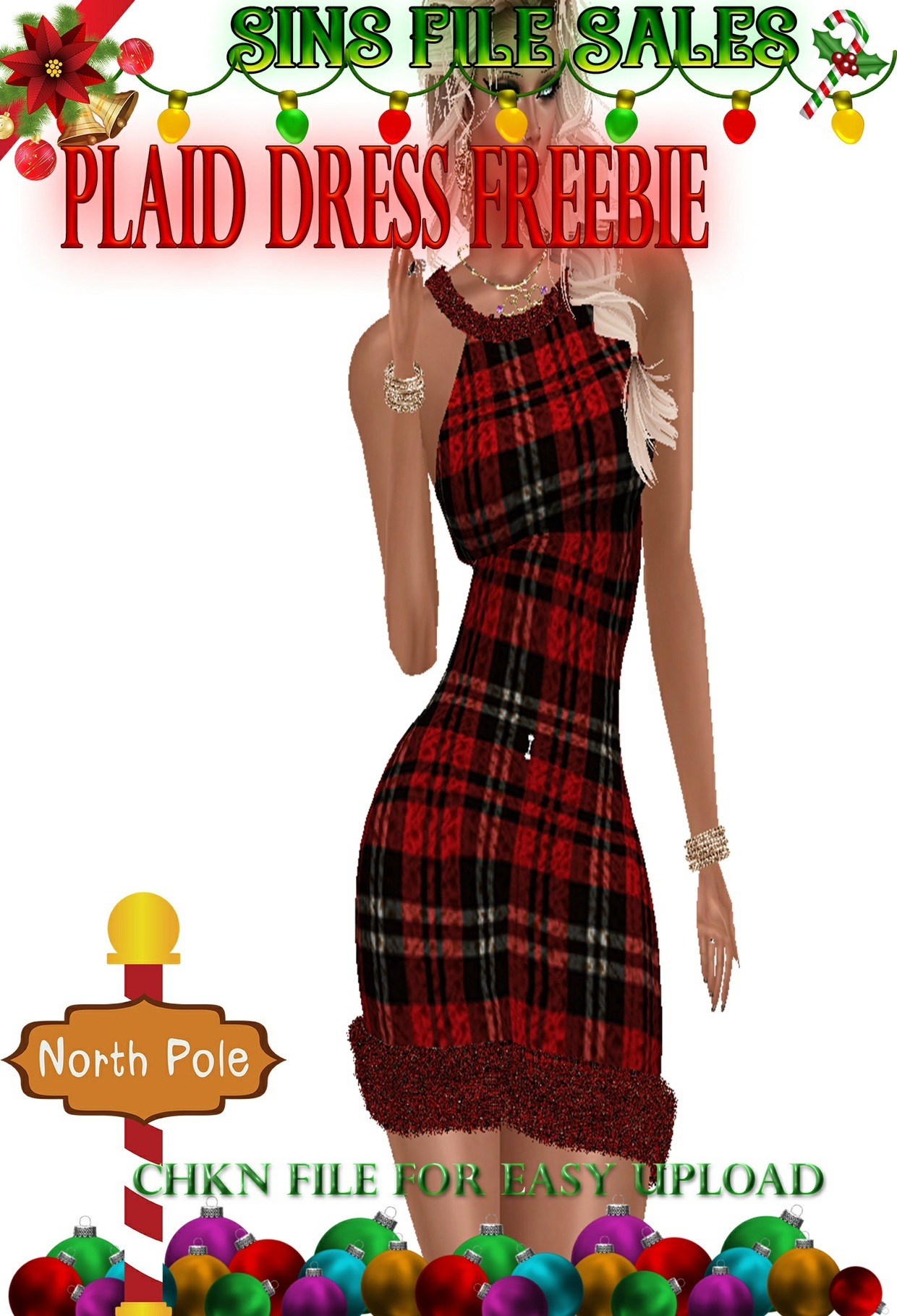 Freebie:Plaid Dress