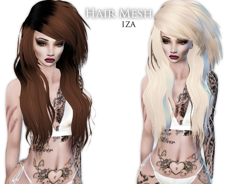 IMVU Mesh - Hair - Iza