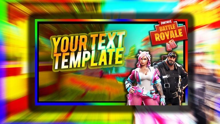 FORTNiTE Battle Royale Thumbnail Template (4) - PSD