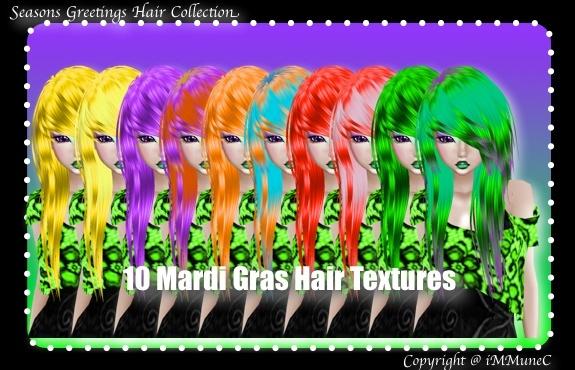 10 Mardi Gras Hair Textures (SG)