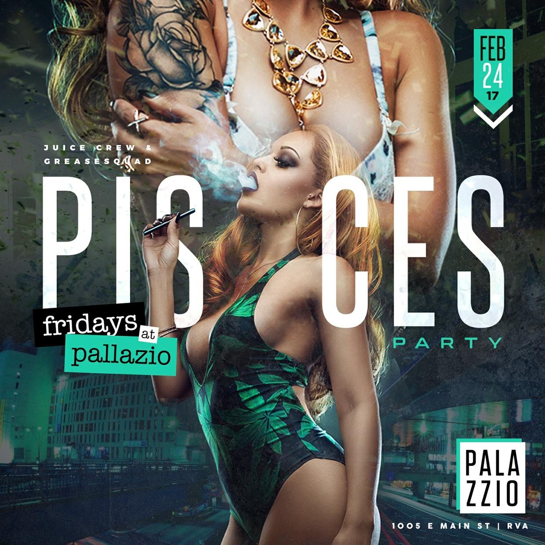 Pisces Party - Club Flyer