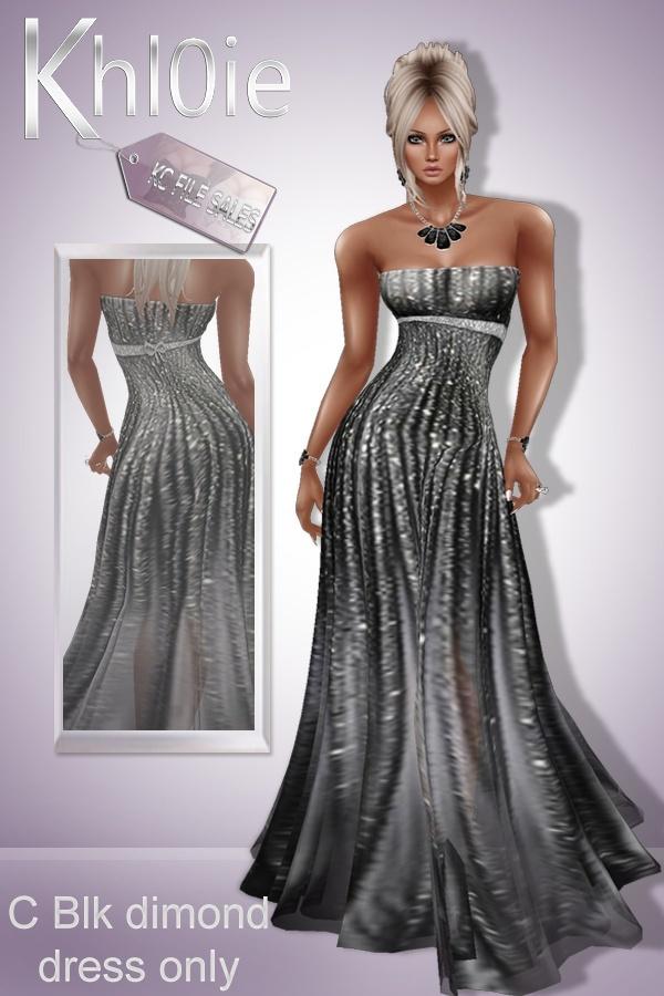 C black diamond dress ( dress only)