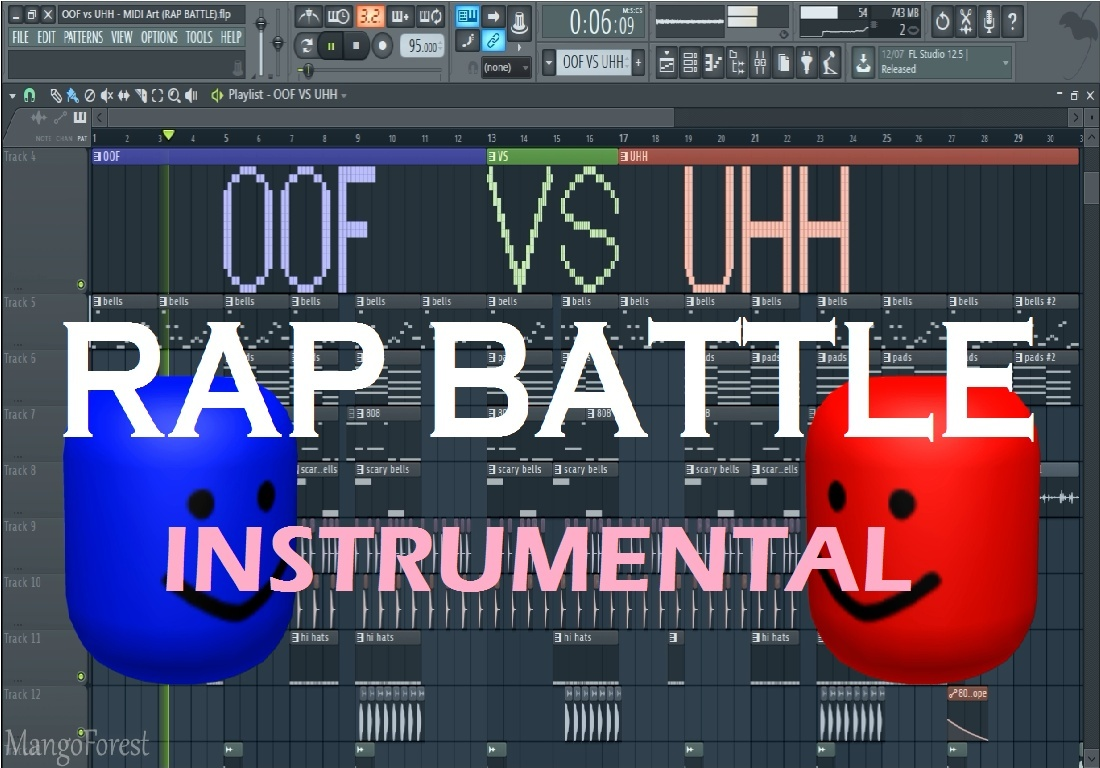 FL STUDIO: OOF vs UHH - MIDI Art (RAP BATTLE) [Instrumental Version]