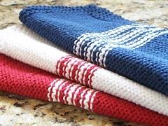 French Striped Dishcloths
