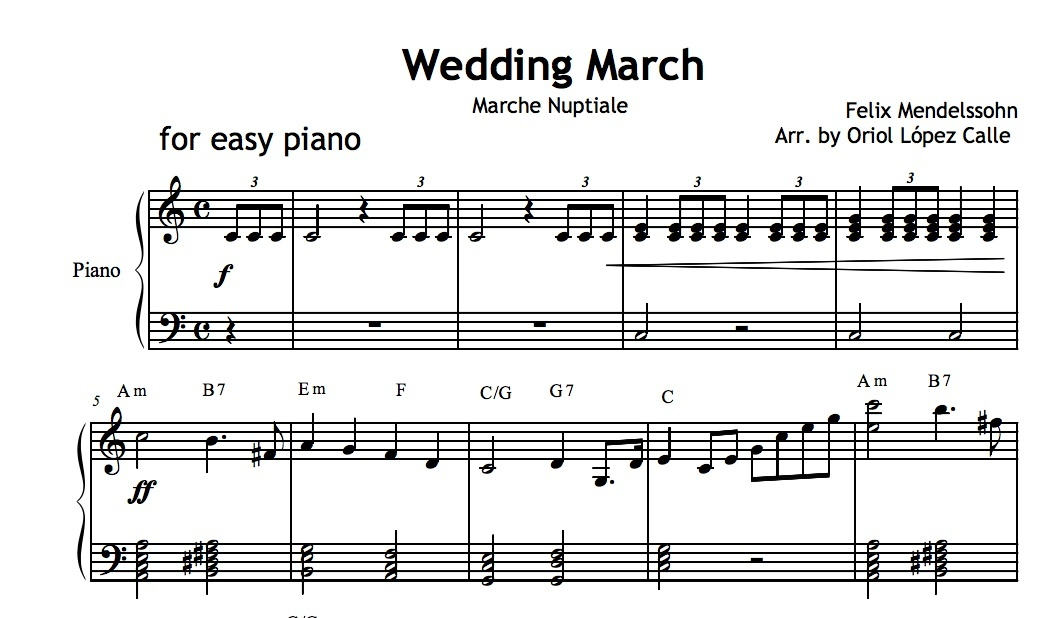 Wedding March Mendelssohn Sheet Music Pdf