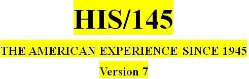 HST 175 Week 2 Modern America Matrix: 1960s Part One