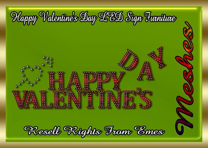 Happy Valentine's Day LED Sign Furniture Catty Only!!!!
