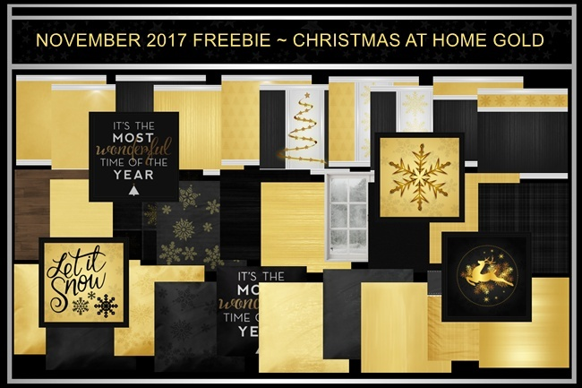FREE CHRISTMAS AT HOME ~ GOLD