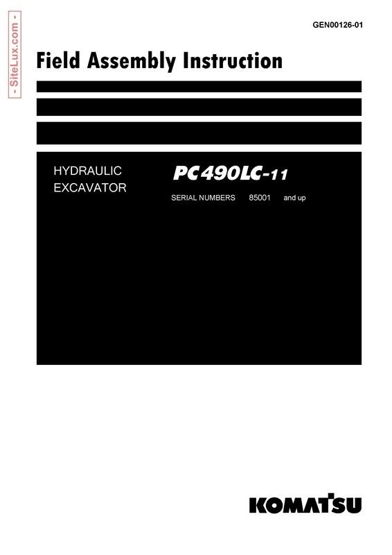 Komatsu PC490LC-11 Hydraulic Excavator (SN 85001 and up) FAI Manual - GEN00126-01