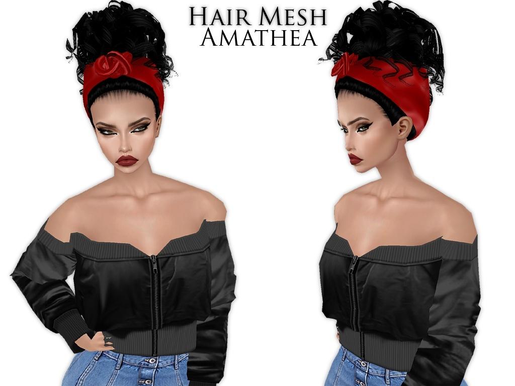 IMVU Mesh - Hair - Amathea