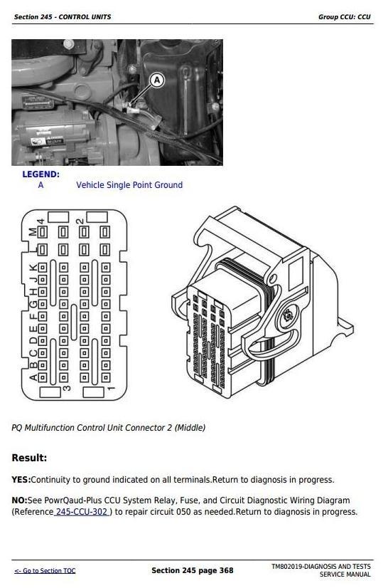 John Deere 7185J, 7195J, 7205J, 7210J, 7225J Tractors Diagnosis and Tests Service Manual (TM802019)