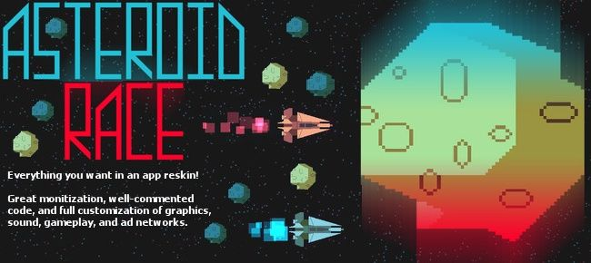 Asteroid Race - iOS game, easy to reskin!