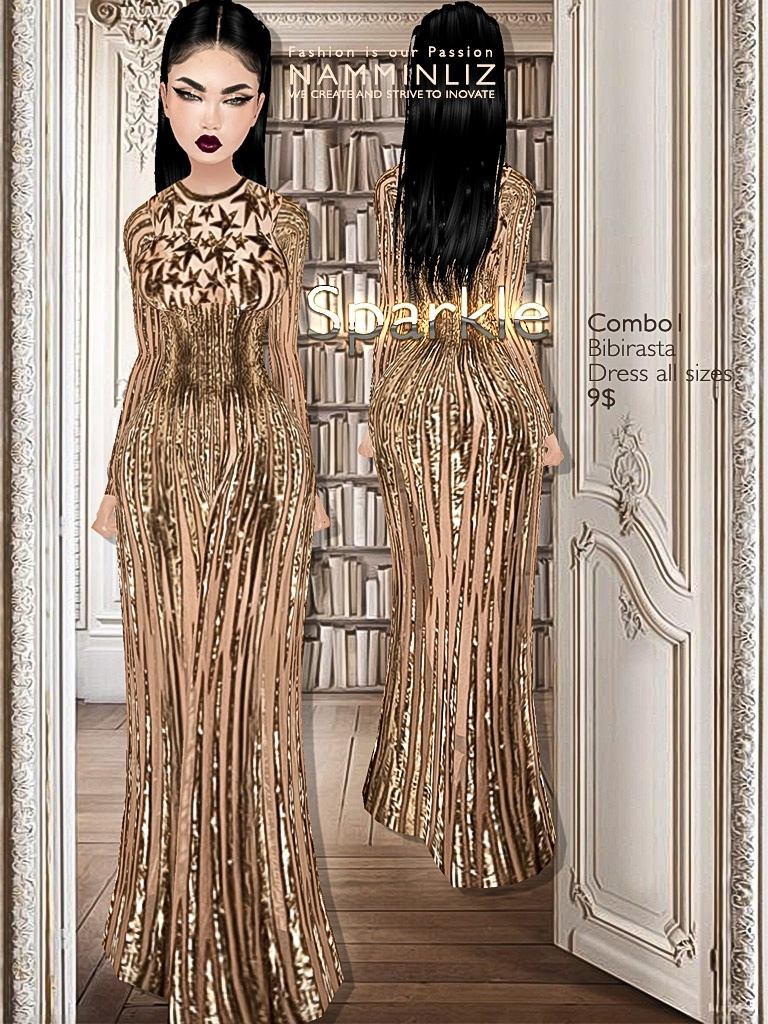 Sparkle combo1 imvu Bibirasta dress all sizes texture JPG