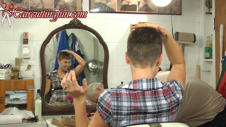 Dawn's Brushcut Haircut - VOD Digital Video on Demand