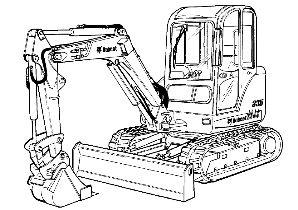 Bobcat 335 Compact Excavator Service Repair Manual Download(S/N AAD111001 & Above ...)