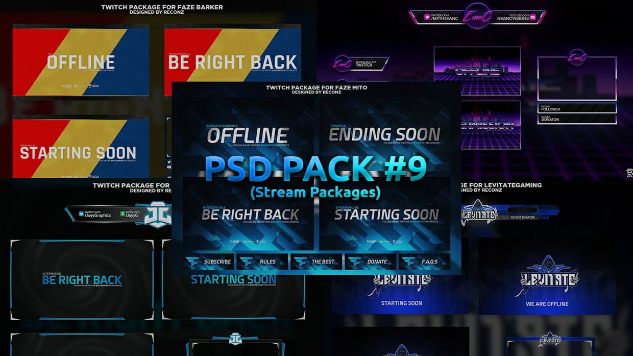 PSD Pack #9 (Stream Packages)
