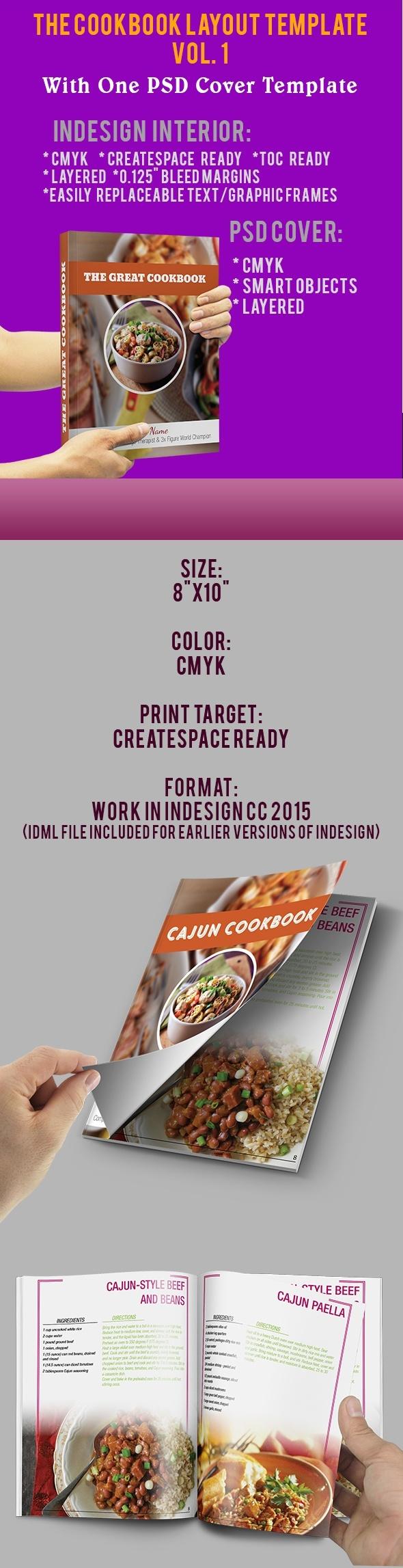 InDesign Cookbook Layout Template Vol_1 | Raingamdigitalproducts ...