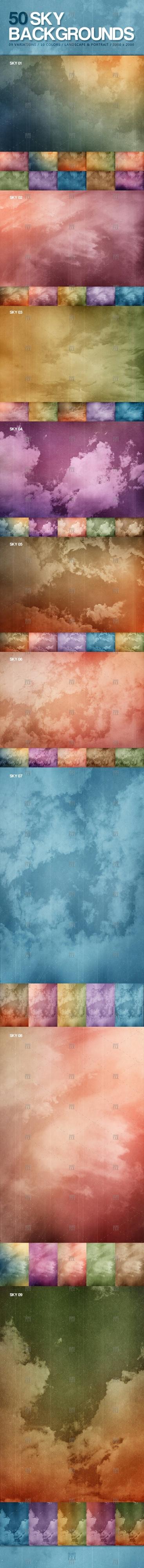 50 Sky Backgrounds
